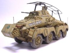 The heavy Panzerspahwagen (Sd Kfz 232) all wheel drive to allow rapid manoevering advancing and ritiring this panzerwagon gave support to the smaller ones and in its lifespan it was being uparmoured in stages from 8mm to 30mm at wars end it fought on all fronts and some 610 were produced