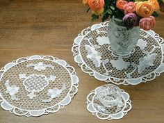 Hand-crocheted as exquisitely as your great-great-grandmother might have done, our Venice lace doilies and runners may well be treasured by future...
