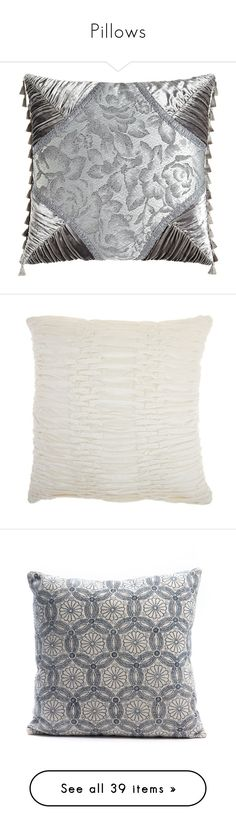 """""""Pillows"""" by magnusx ❤ liked on Polyvore featuring home, home decor, throw pillows, platinum, tassel throw pillow, cream, beige throw pillows, pleated throw pillows, off white throw pillows and velvet accent pillows"""