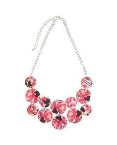 Carol Dauplaise Flower Shell Statement Necklace