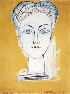 I love these delicate line drawings by Picasso - Portrait of Francoise, 1946 Pablo Picasso Drawings, Kunst Picasso, Picasso Sketches, Art Picasso, Picasso Paintings, Art Drawings, Henri Matisse, Pablo Picasso Zeichnungen, Paul Gauguin