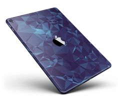 "Royal Blue Abstract Geometric Shapes Full Body Skin for the iPad Pro (12.9"" or 9.7"" available) from DesignSkinz"