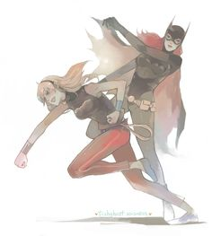 fish-ghost: Young Justice~Love these two girls~~^w^ Dc Comics Art, Marvel Dc Comics, Young Justice Love, Dc Batgirl, Hq Dc, Super Hero Costumes, Detective Comics, Two Girls, Bat Family