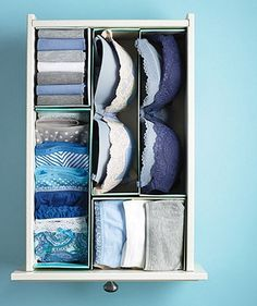 5. Organize drawers with DIY dividers Whether it's makeup, hair accessories or more, don't let your drawers become one big tangle. Make draw...