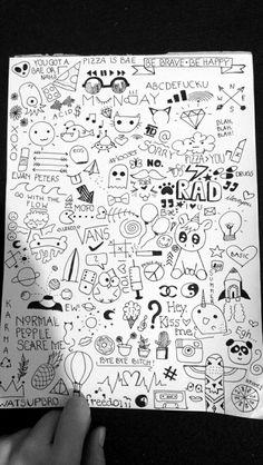bild ueber we heart it weheartit com – Art Sketches Mini Drawings, Small Drawings, Art Drawings Sketches, Easy Drawings, Notebook Drawing, Notebook Doodles, Doodle Art Journals, Doodle Art Drawing, Doodle Sketch