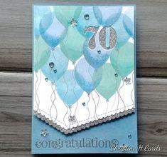 70th Birthday Card, Male Birthday, Birthday Cards For Men, Birthday Greeting Cards, Birthday Greetings, Altenew, I Card, Fathers Day, Creative