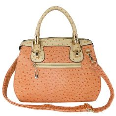 Amazon.com: MG Collection MARISSA Pink Ostrich Top Double Handle Doctor Style Handbag: Shoes