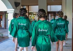 Bridesmaid Robes Green wedding robes bridesmaid silk robe dressing gown personalized silk robe embroidered robe custo - Judy E. Emerald Green Bridesmaid Dresses, Emerald Green Weddings, Wedding Bridesmaid Dresses, Wedding Attire, Emerald Wedding Colors, Wedding Tuxedos, Bridesmaid Silk Robes, Wedding Groom, Bride Groom