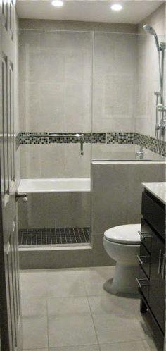 Bath Tub in Shower / Wet Room Bathroom Remodel #smallbathroomrenovations