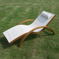 Outsunny Lounge Chair Chaise Wood Outdoor Pool Patio Furniture Camping Headrest for sale online Pool Patio Furniture, Garden Furniture, Outdoor Furniture, Wood Patio, Acacia Wood Furniture, Style Tropical, Sun Chair, Pool Lounge Chairs, Sauna Design