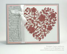 Bloomin Heart Thinlit Die Swap card shared by Dawn Olchefske #dostamping (Lynn Anderson)