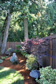 backyard landscaping beautiful.....this would be great for the corners where it's hard to mow