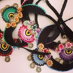 Crochet necklace - tığ işi ve iğne oyası kolyeler