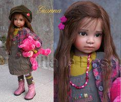ANGELA SUTTER DOLL GIANNA - poupée d'artiste unique d'Angela Sutter