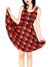 Digital Print Circle Skater Dress