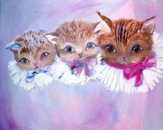 Tukiainen Katja: Three Kittens with Collars