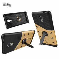 For Meizu Meilan Note 3 Case Shockproof Armor Silicone Rubber Cover 360 Degree Rotation Kickstand Phone Case For Meilan Note 3