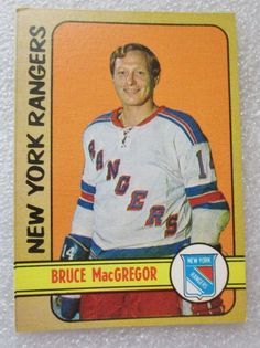 ORIGINAL O PEE CHEE 1972-73 BRUCE MacGREGOR CARD! N.Y. Rangers EX-NM #NewYorkRangers
