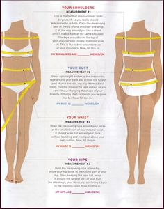 Measuring the body is one of the most important things when making clothing.  If you measure wrong or don't measure at all chances are your item will not fit correctly.  Below is a guide that…
