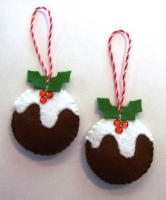 felt ornament  i have made these and they turned out so cute !