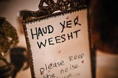 Table names - Scottish words and phrases. Great for a laugh