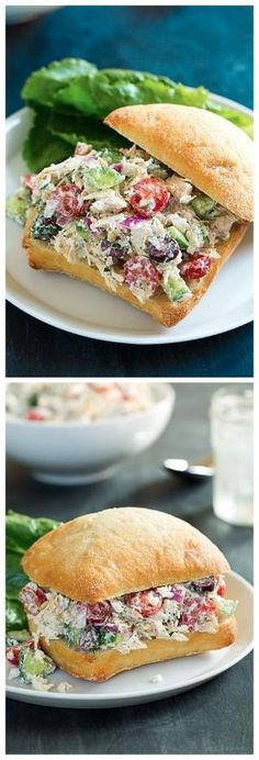 Greek Chicken Salad Sandwiches by loretta