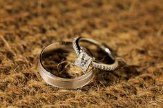 Simple princess cut engagement ring