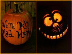 Pumpkin carving. Alice in wonderland. Diy