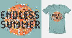 Endless Summer up for scoring on @Threadless. #Summer #vectors #type