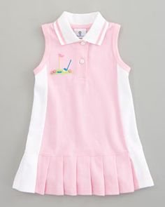 Miniature Golf Knit Pique Dress, country club attire for the tot