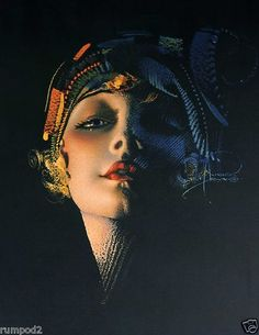 Art-Nouveau-Poster-Art-Deco-Print-Rolf-Armstrong-Dream-Girl-Flapper