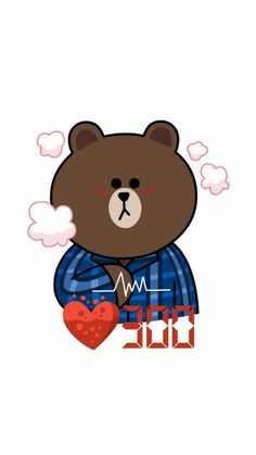 ⚘盼༵夏༵⚘Lᵒᵛᵉᵧₒᵤ❤ Line Sticker, Wall Sticker, Line Cony, Tedy Bear, Cony Brown, Cute Couple Cartoon, Bunny And Bear, Brown Line, Emoji Faces