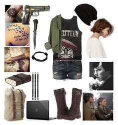"""Supernatural & Sherlock Crossover"" by caityjayde ❤ liked on Polyvore featuring rag & bone, Timberland, P & Lot and Herschel Supply Co."