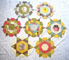 Rose Star Block - based on dissected hexagons