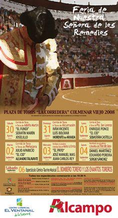 CARTEL DE TOROS DE LA FERIA DE COLMENAR VIEJO 2008