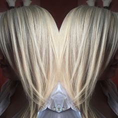 Natural level 5 - to Icy Silver Blonde Formula: Goldwell Oxycur Platin 20 vol processed 35 min. Tone with Wella Color Touch 8/81 and 10/6 with 13 vol for 20 min