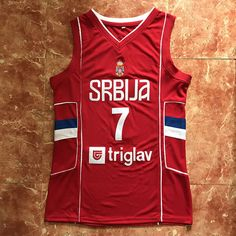 f1c1a87e9 2018  7 Bogdan Bogdanovic Team Serbia Basketball Jersey Men S Embroidery  Stitched Custom Any Number And Name Jerseys From Yufan1