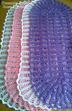 Tecendo Artes em Crochet: Caminho de Mesa