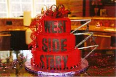 WEST SIDE STORY themed cake. Come see WEST SIDE STORY live on stage produced by Music Circus August 4 - 9, 2015 at the Wells Fargo Pavilion.  TICKETS: http://www.californiamusicaltheatre.com/events/westsidestory/