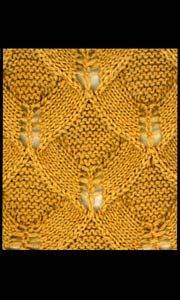 Lace pattern for knitting; should e lovely for a beaded project