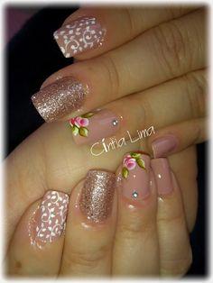 Spring Nails, Summer Nails, Uñas One Stroke, Uñas Fashion, Christmas Nail Art, Gorgeous Nails, Mani Pedi, Nail Arts, Cute Nails