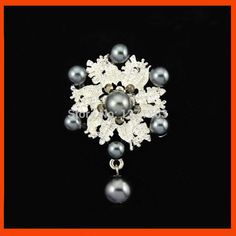 Latest Collection Of Ladies Diamante Droplet Brooch Pin For Hijab Scarf Bridal/party/wedding Latest Technology Jewelry & Watches Engagement & Wedding