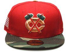 Custom NEW ERA x NHL「Chicago Blackhawks」59Fifty Fitted Baseball Cap
