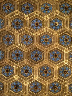 Pattern of a ceiling in Palazzo Vecchio, Firenze