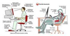 Postura adecuada para trabajar frente al ordenador