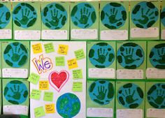 Earth Day Bulletin Board/ April quilt square