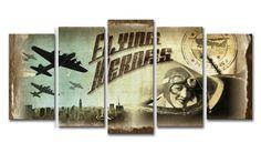 PR_Xl05_Cuadro Aviones Vintage