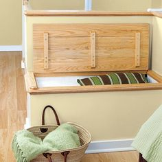 This built-in bench provides extra storage for linens in an attic suite   Photo: John Gruen   thisoldhouse.com