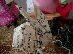 Origami bunny video tutorial