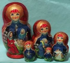 NATIVITY - we'll have Russian nesting dolls at the market